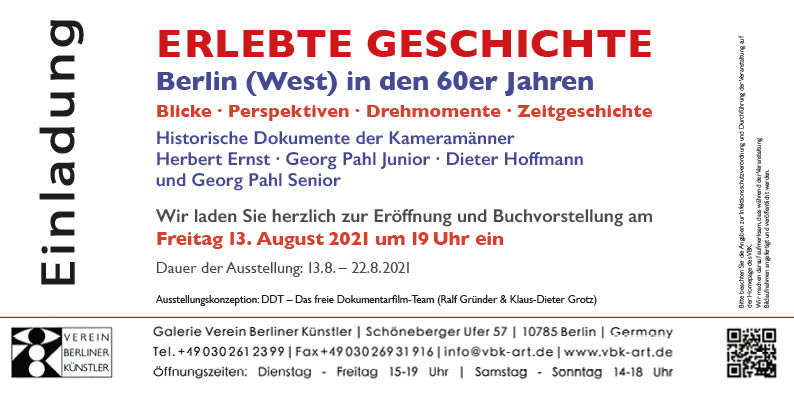 Flyer zur Exhibition: Berlin (West): Erlebte Geschichte